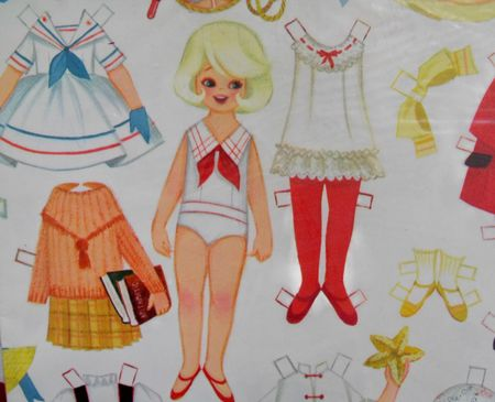 Paper doll closeup