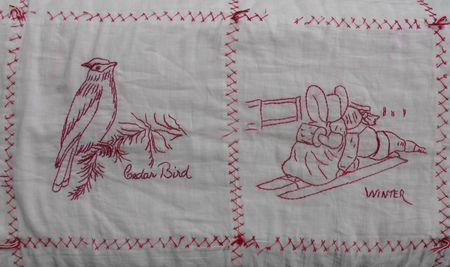 Bird and winter squares