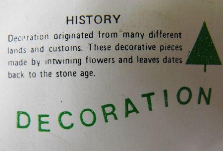 Decoration text