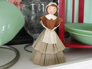 Crepe paper doll