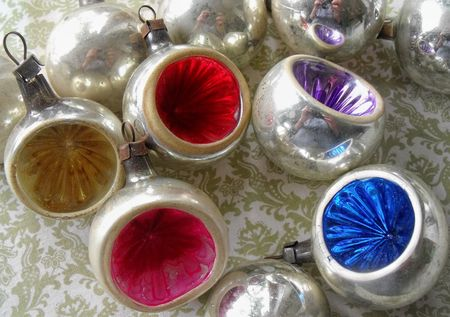 A christmas ornament indents