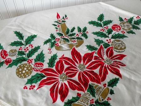 A christmas tablecloth 1