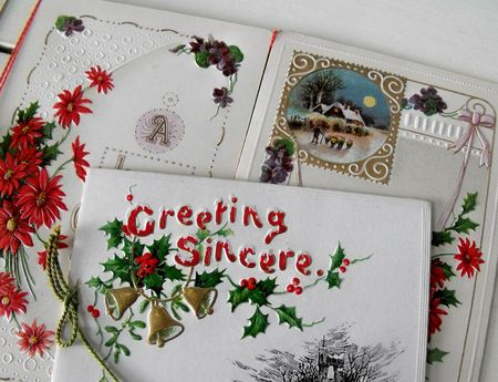 A christmas card embossing